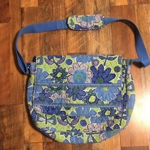Vera Bradley Messenger Bag in Doodle Daisy
